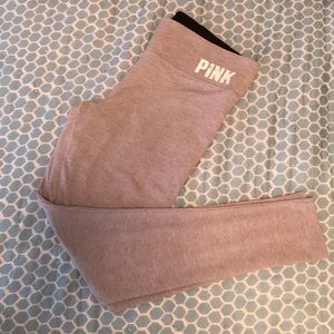 VS pink stay warm lined yoga pants